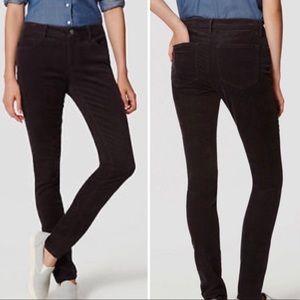 Loft Ann Taylor curvy skinny corduroy jeans
